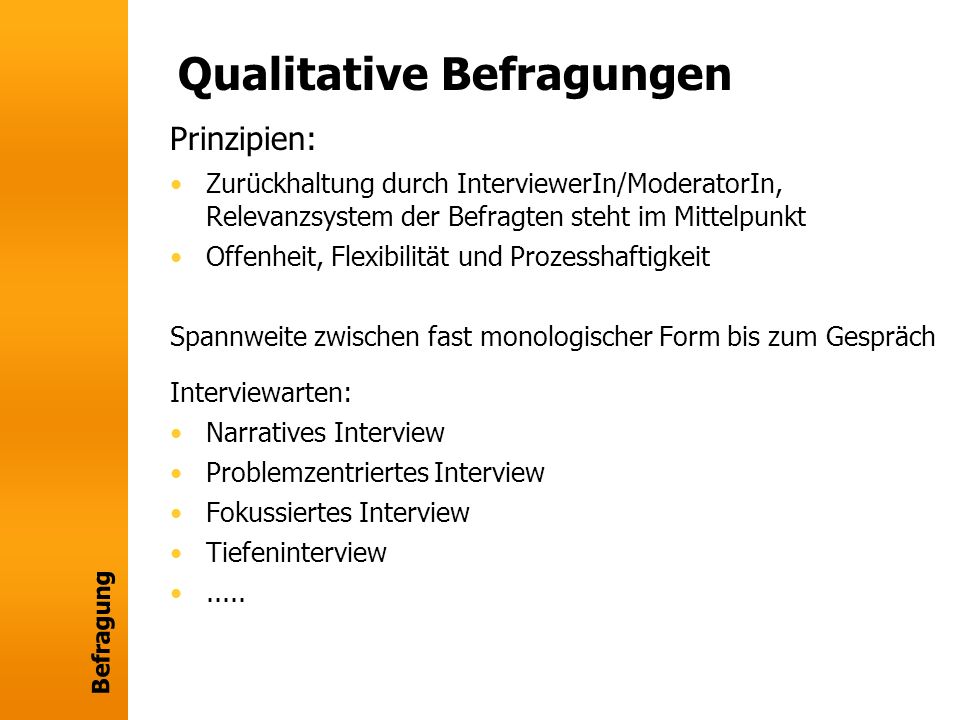 Qualitative Befragungen