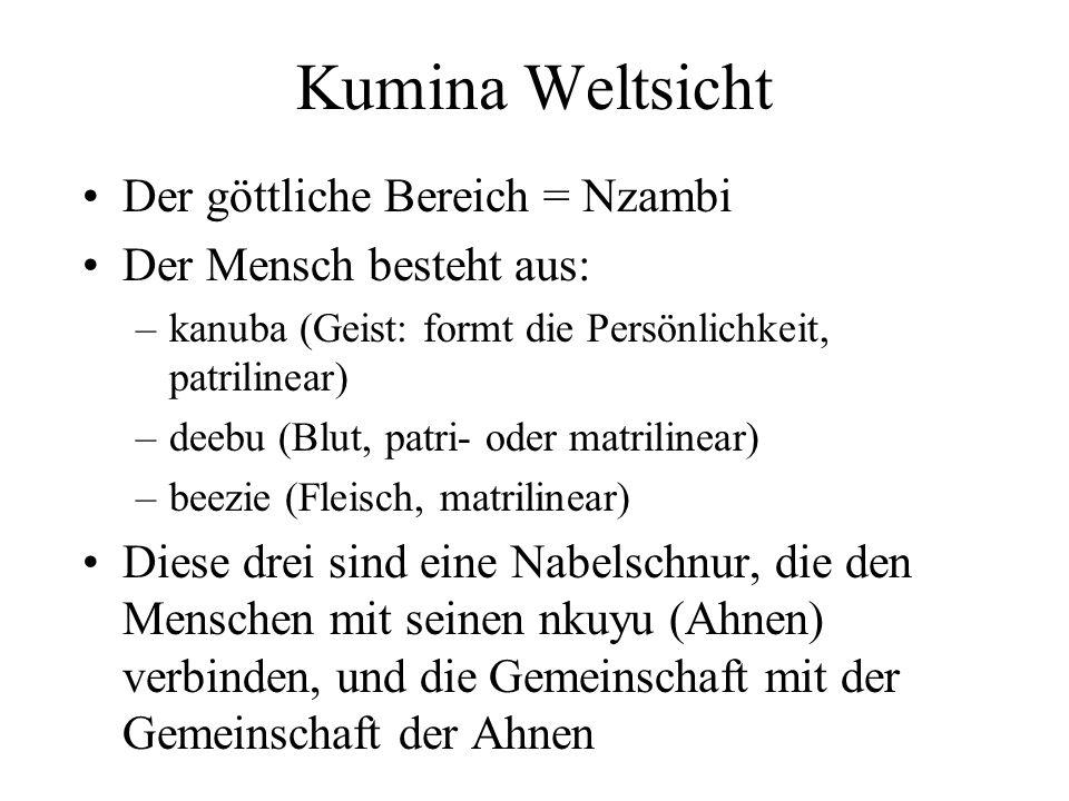 Kumina Weltsicht Der göttliche Bereich = Nzambi