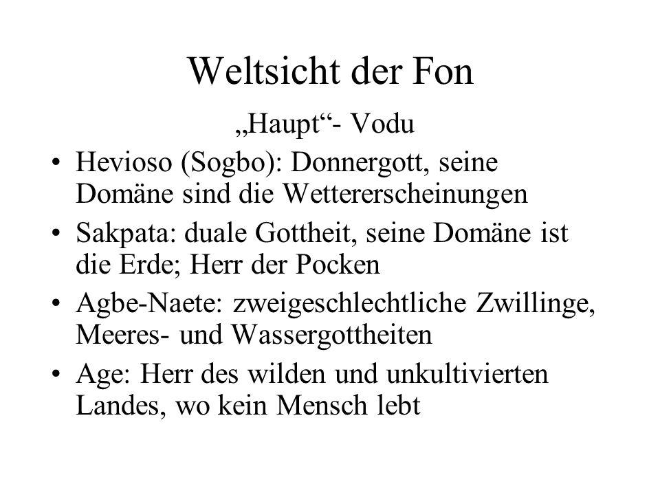 """Weltsicht der Fon """"Haupt - Vodu"""