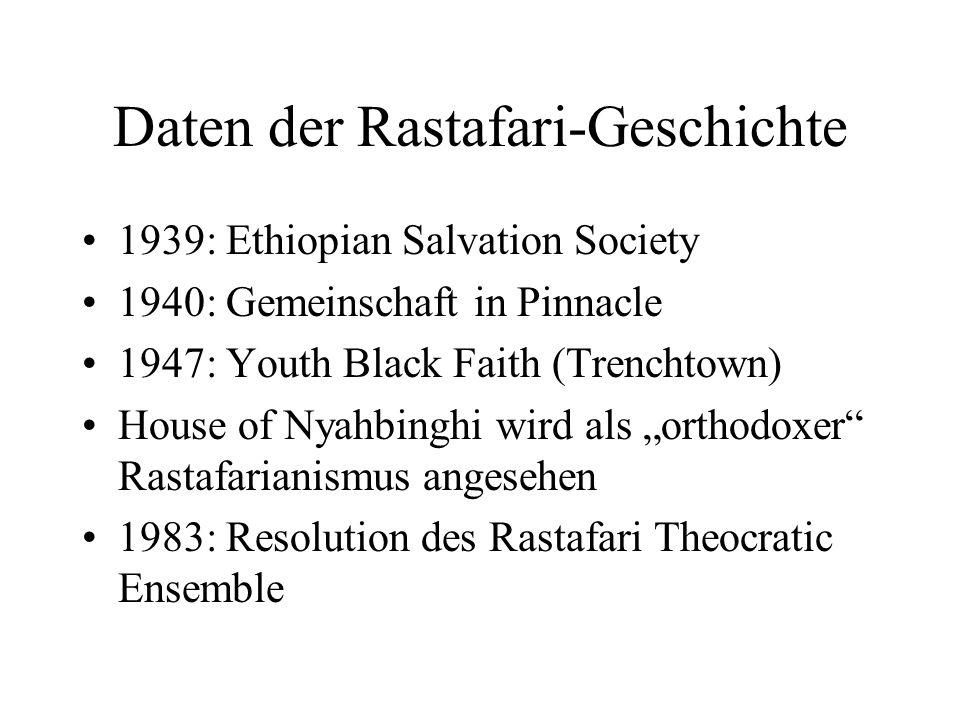 Daten der Rastafari-Geschichte