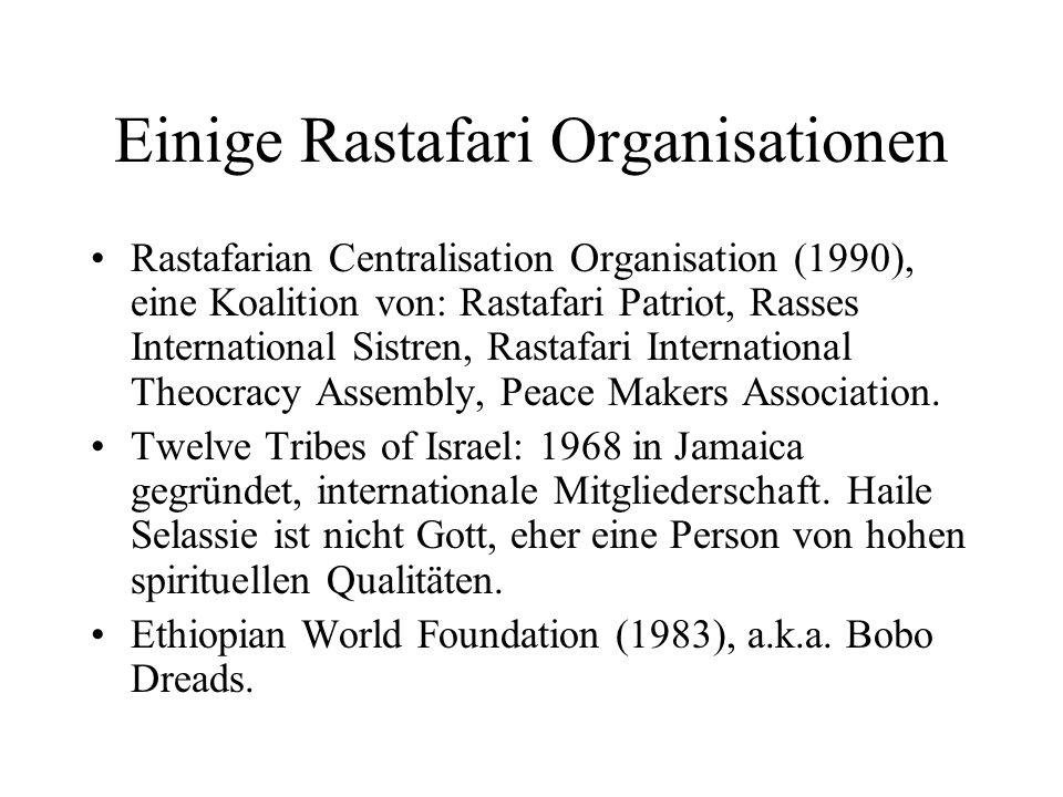 Einige Rastafari Organisationen
