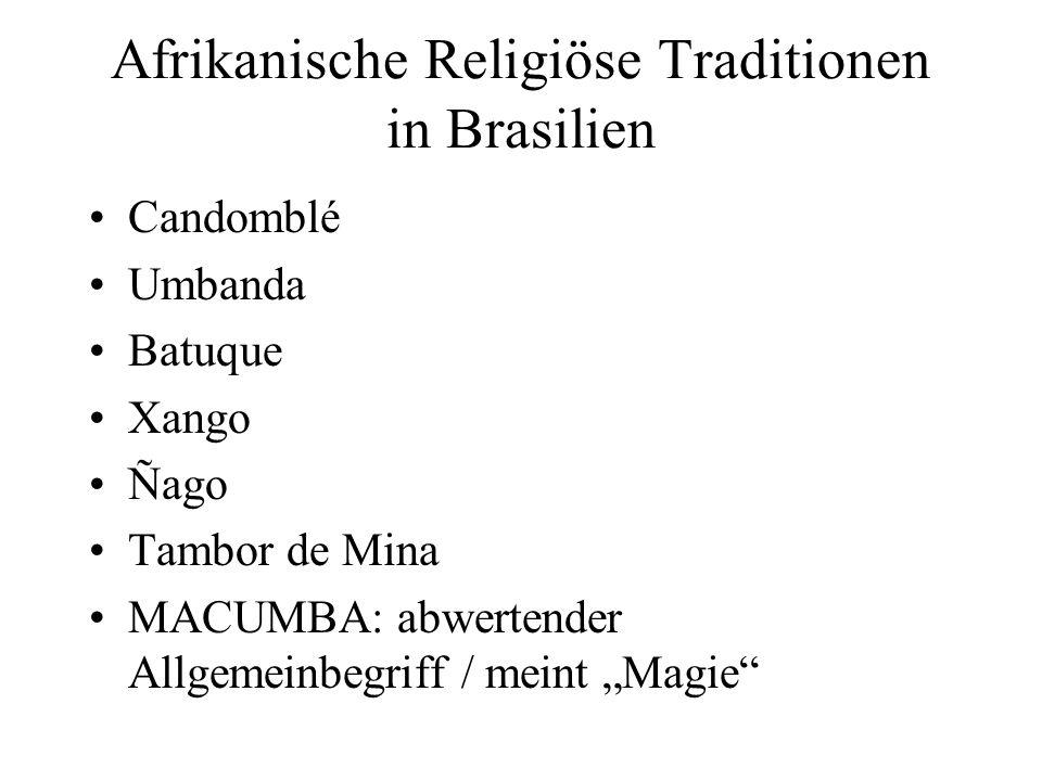 Afrikanische Religiöse Traditionen in Brasilien