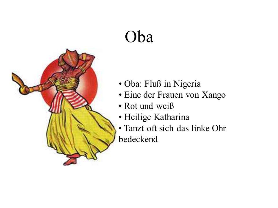 Oba Oba: Fluß in Nigeria Eine der Frauen von Xango Rot und weiß