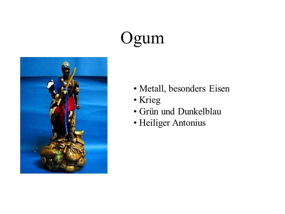 Ogum Metall, besonders Eisen Krieg Grün und Dunkelblau