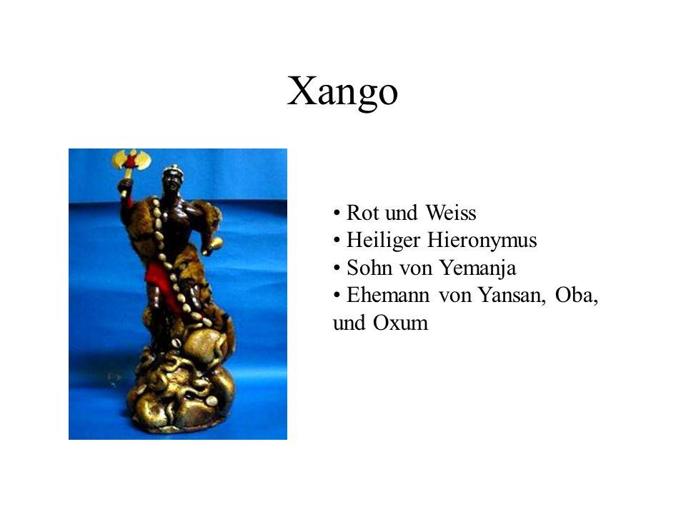 Xango Rot und Weiss Heiliger Hieronymus Sohn von Yemanja