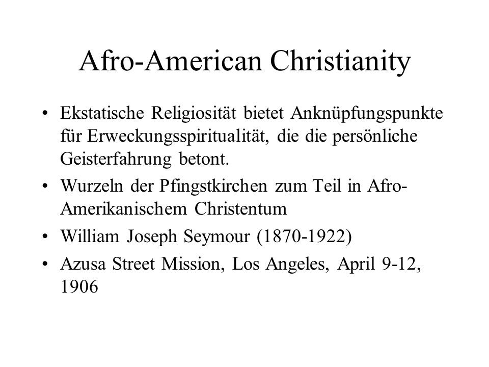 Afro-American Christianity