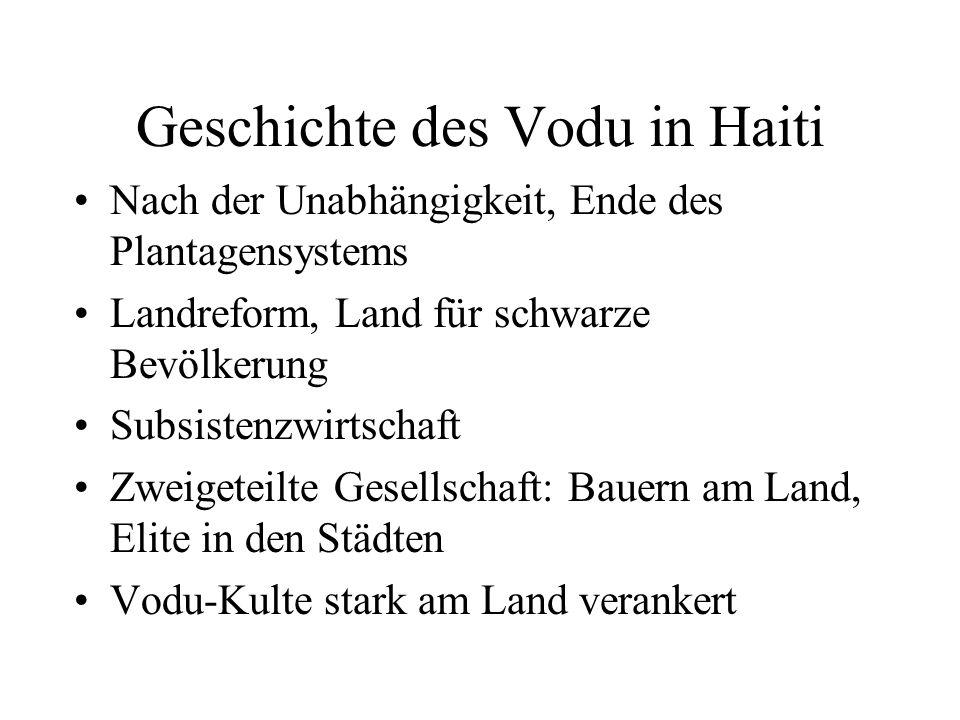 Geschichte des Vodu in Haiti