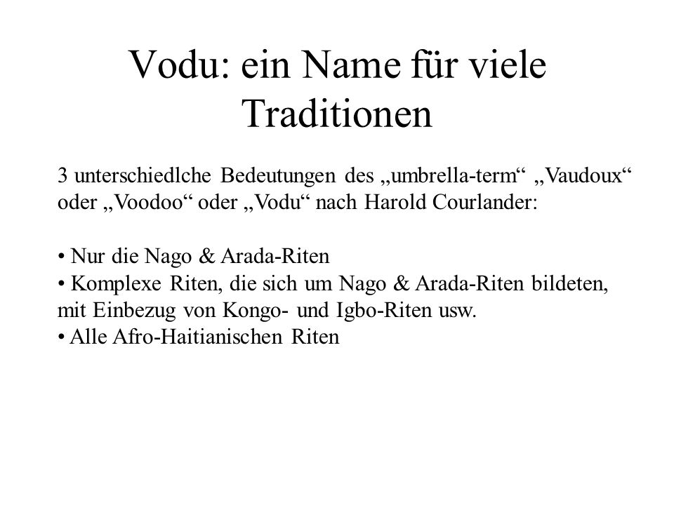 Vodu: ein Name für viele Traditionen