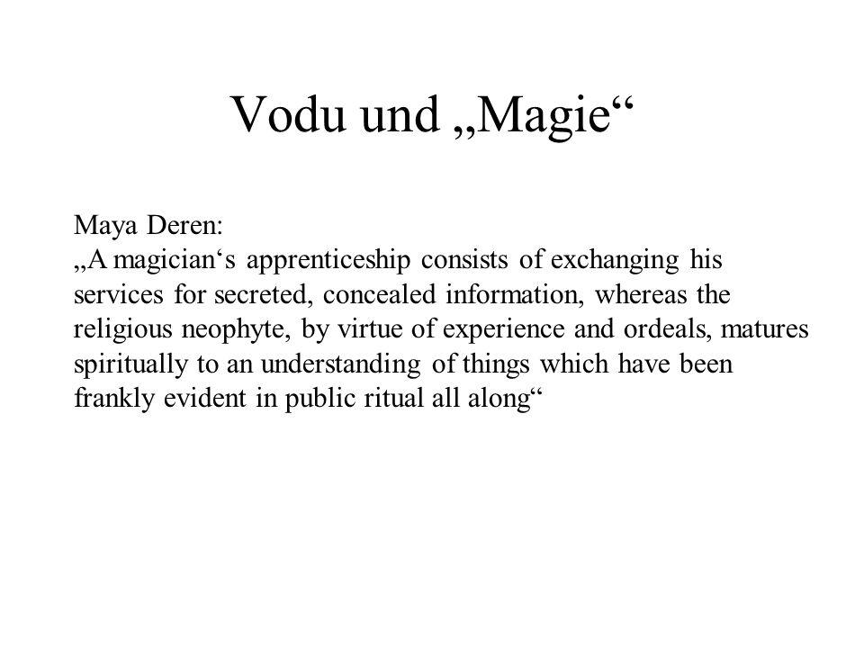 """Vodu und """"Magie Maya Deren:"""