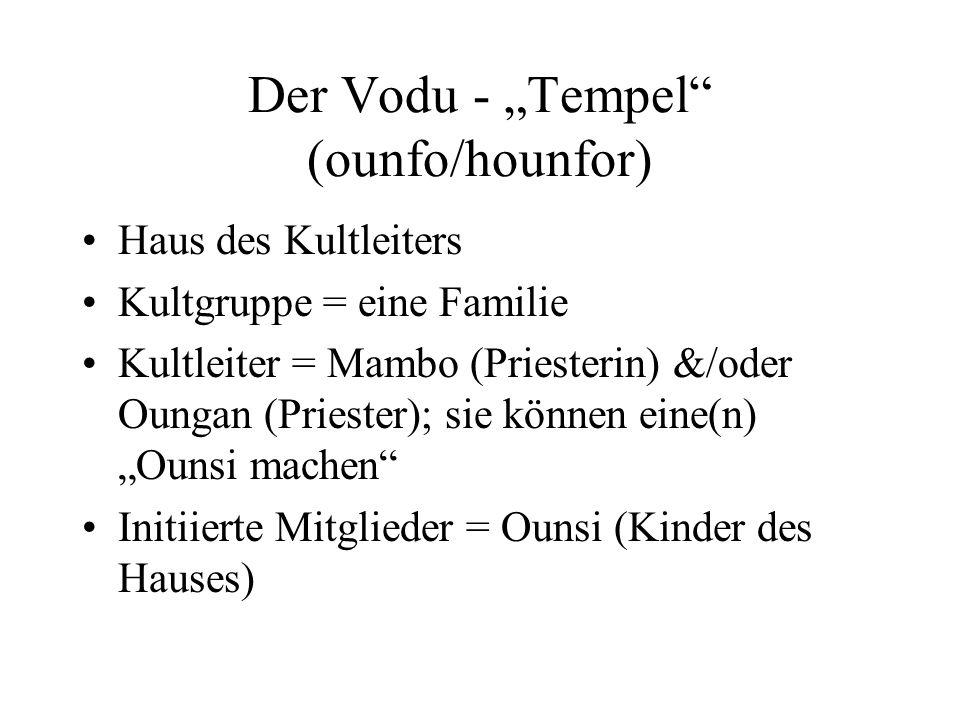 """Der Vodu - """"Tempel (ounfo/hounfor)"""