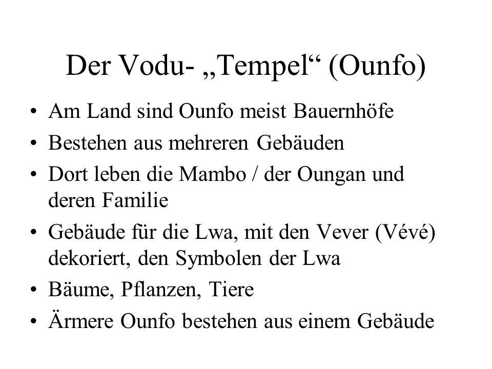 """Der Vodu- """"Tempel (Ounfo)"""