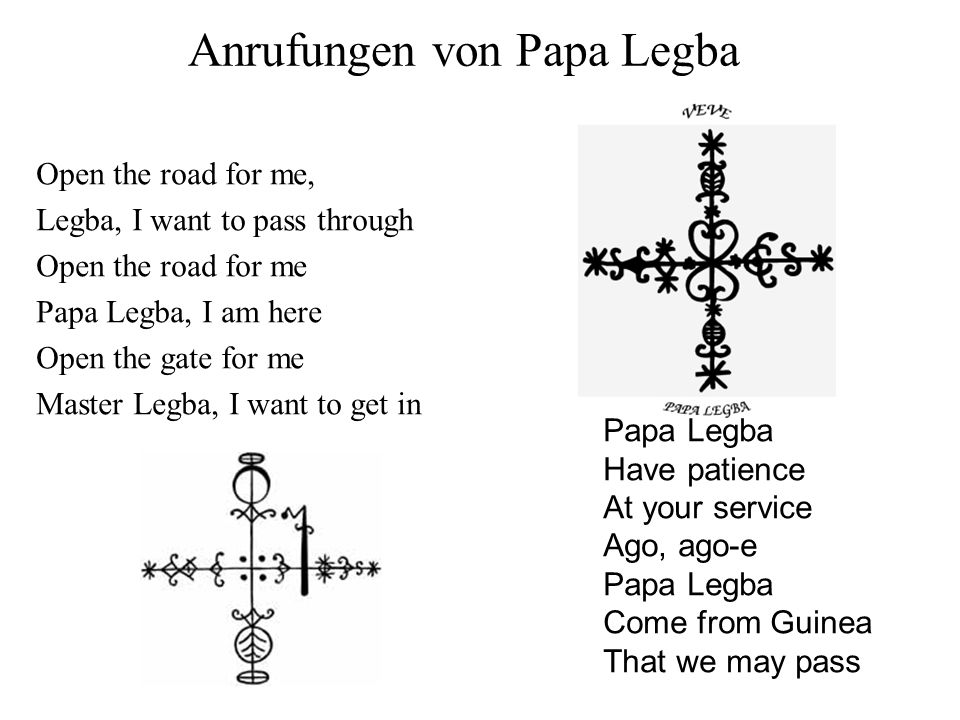 Anrufungen von Papa Legba