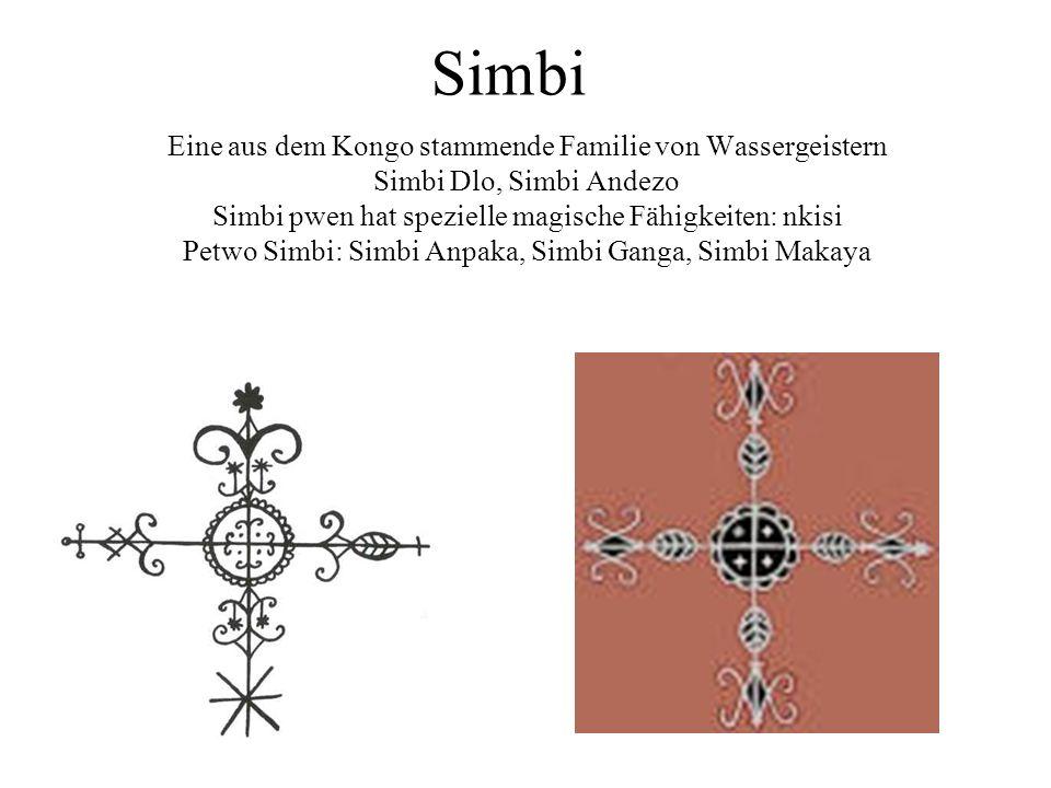 Simbi Eine aus dem Kongo stammende Familie von Wassergeistern