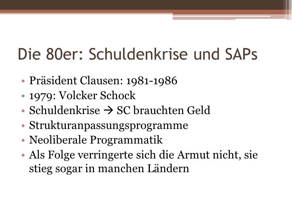 Die 80er: Schuldenkrise und SAPs