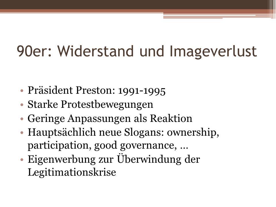 90er: Widerstand und Imageverlust