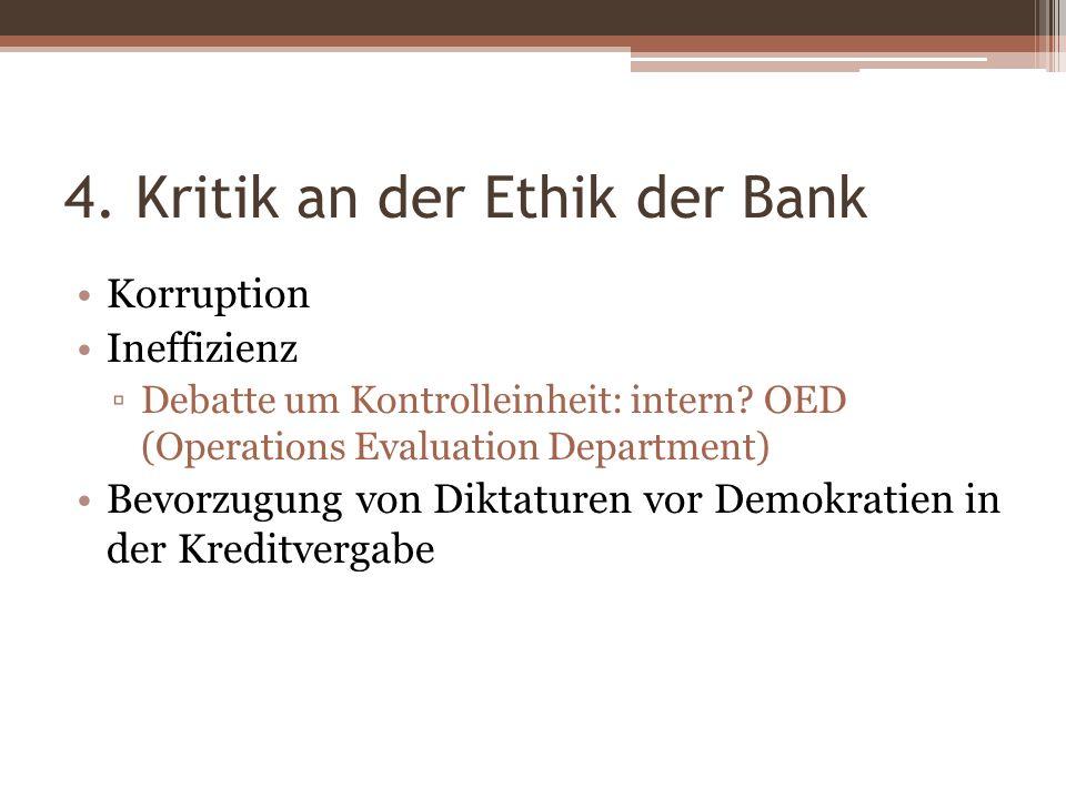 4. Kritik an der Ethik der Bank