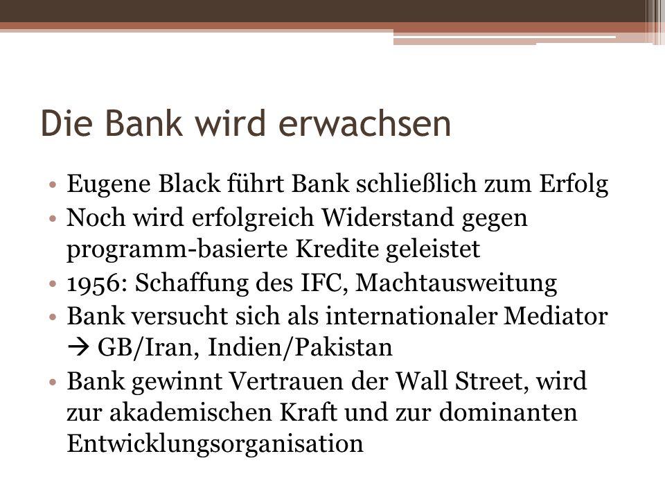 Die Bank wird erwachsen