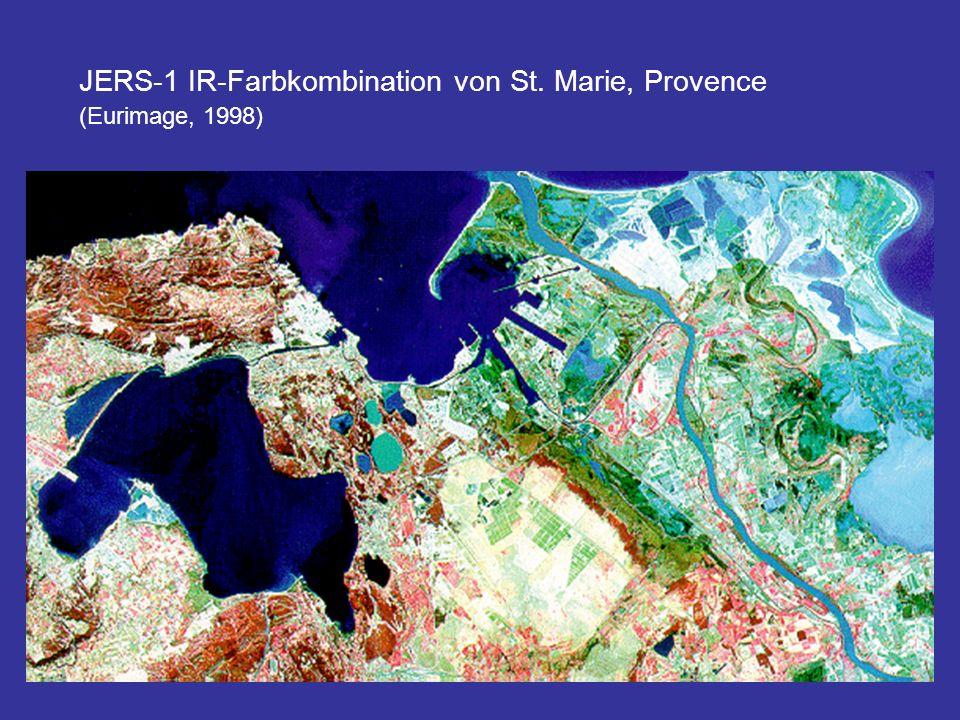 JERS-1 IR-Farbkombination von St. Marie, Provence