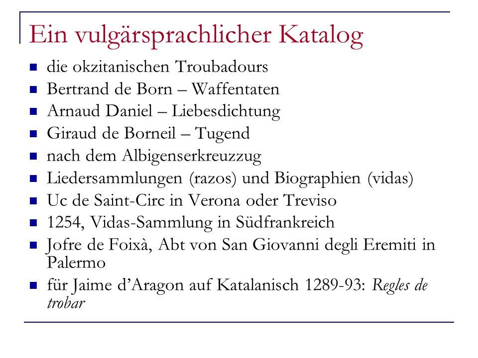 Ein vulgärsprachlicher Katalog