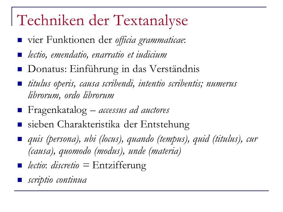Techniken der Textanalyse