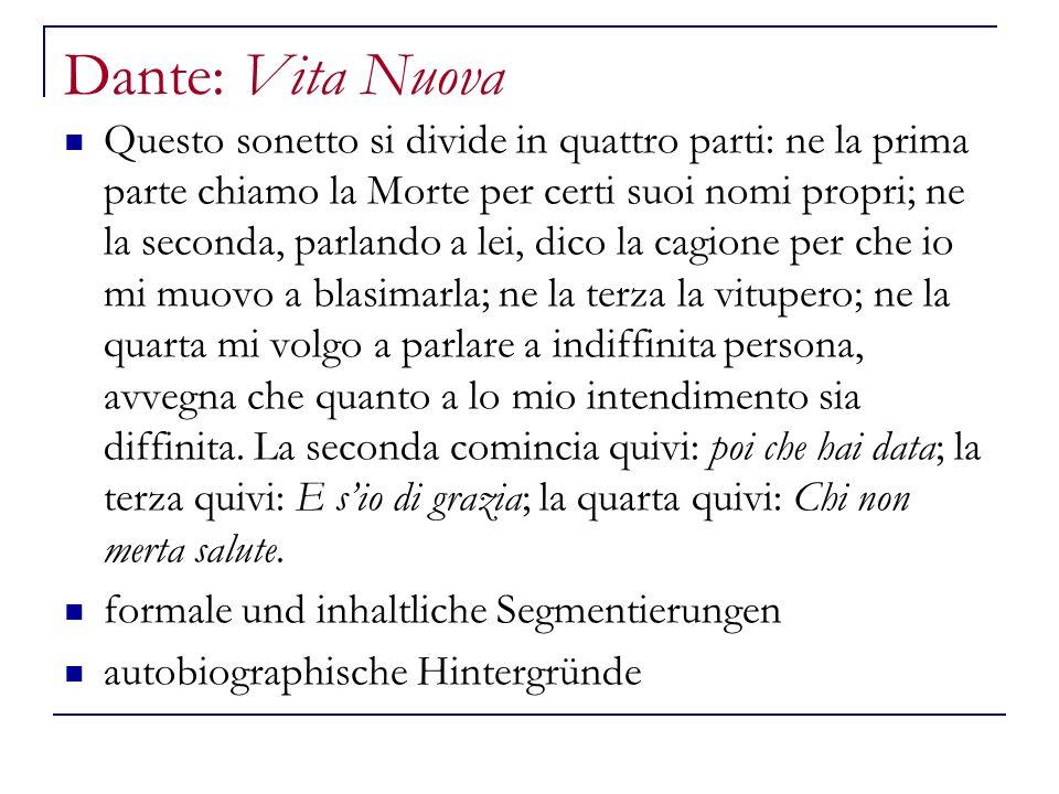 Dante: Vita Nuova