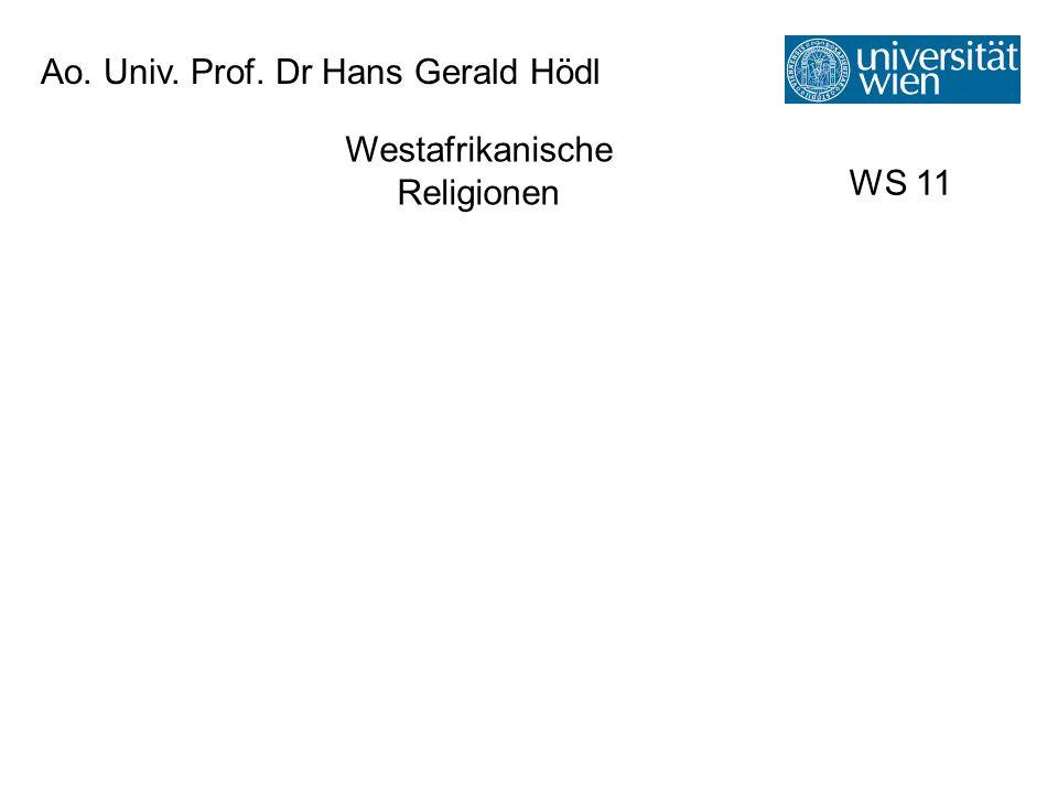 Ao. Univ. Prof. Dr Hans Gerald Hödl
