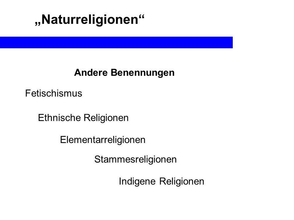 """""""Naturreligionen Andere Benennungen Fetischismus Ethnische Religionen"""