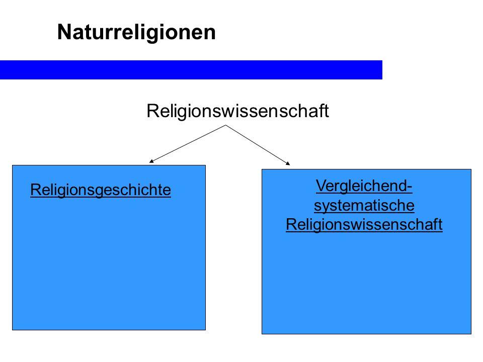 Naturreligionen Religionswissenschaft Vergleichend-systematische