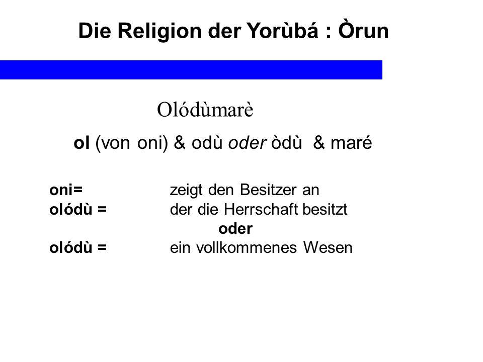 Die Religion der Yorùbá : Òrun