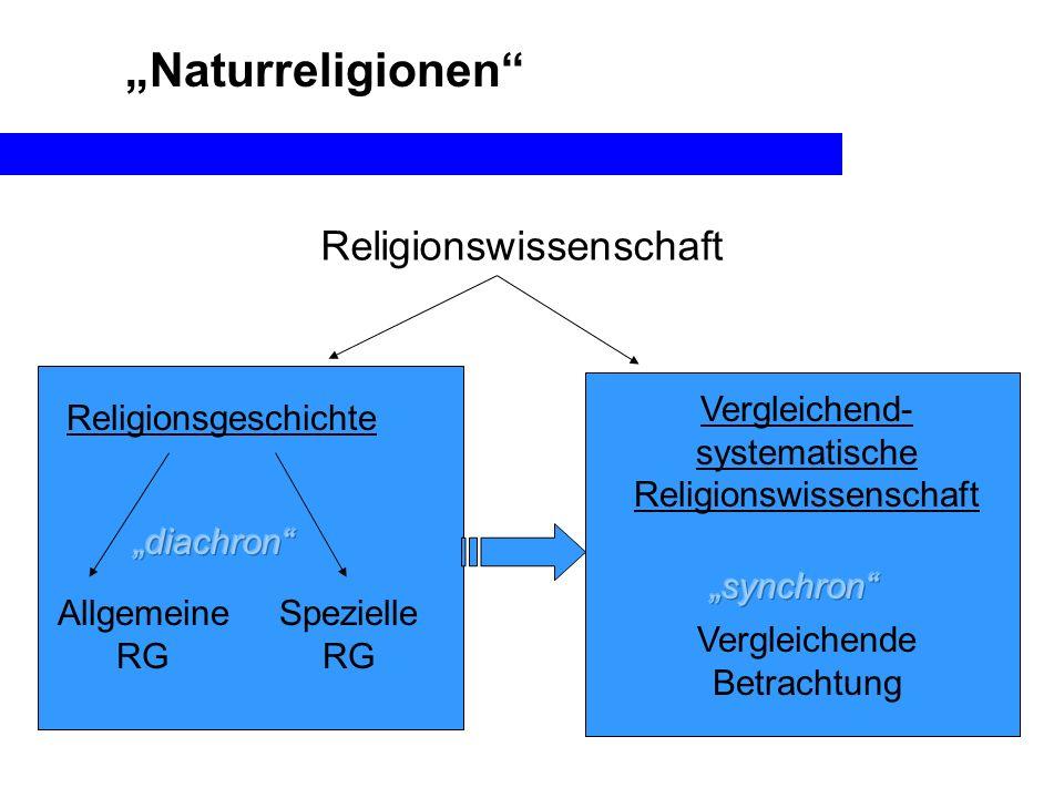 """""""Naturreligionen Religionswissenschaft Vergleichend-systematische"""