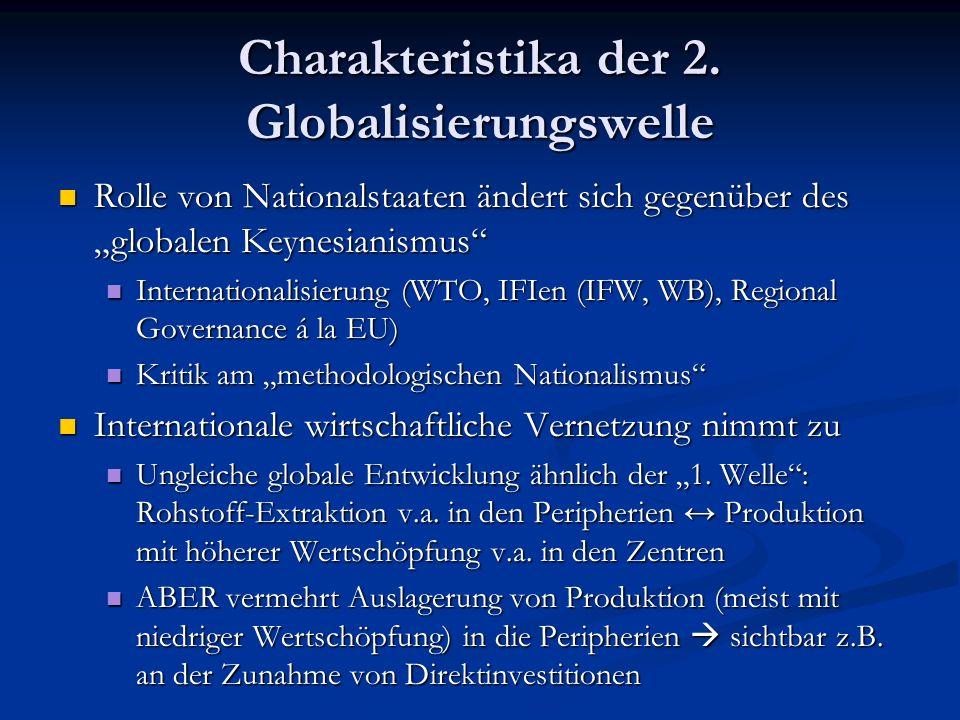 Charakteristika der 2. Globalisierungswelle