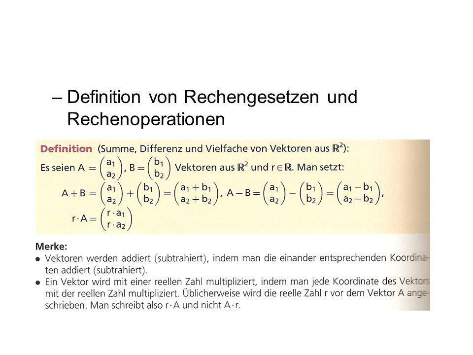 Definition von Rechengesetzen und Rechenoperationen