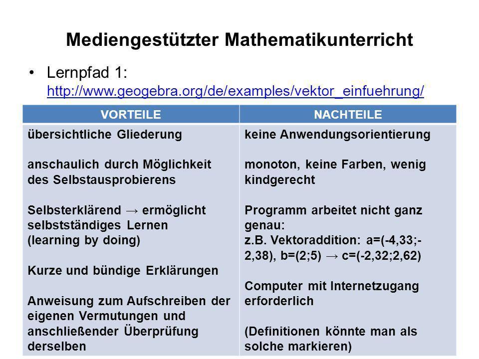 Mediengestützter Mathematikunterricht