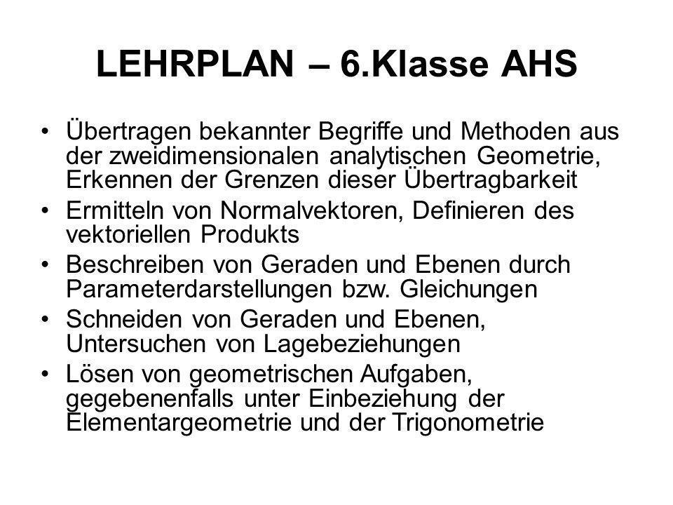 LEHRPLAN – 6.Klasse AHS