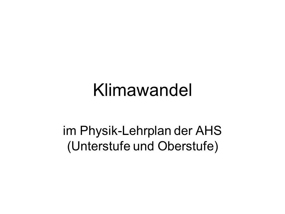 im Physik-Lehrplan der AHS (Unterstufe und Oberstufe)