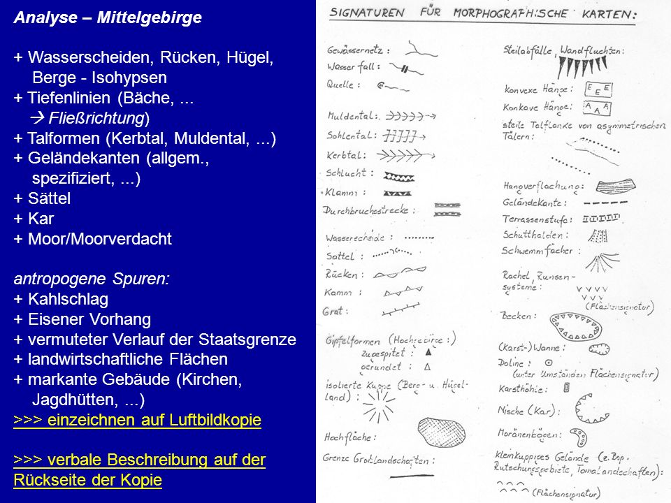 Analyse – Mittelgebirge