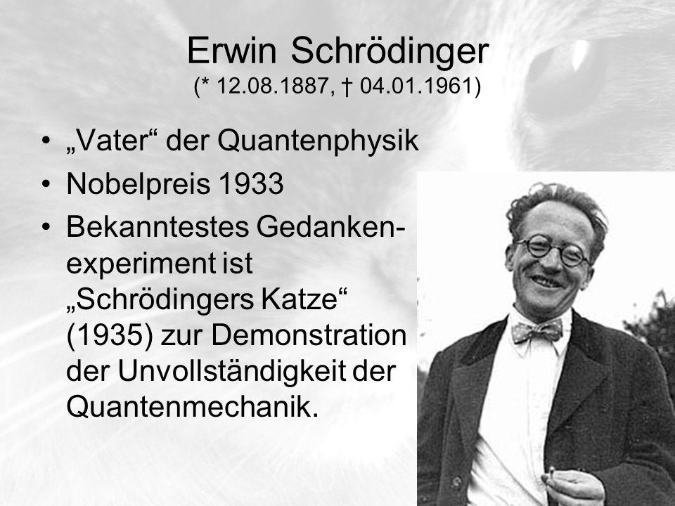Erwin Schrödinger (* 12.08.1887, † 04.01.1961)
