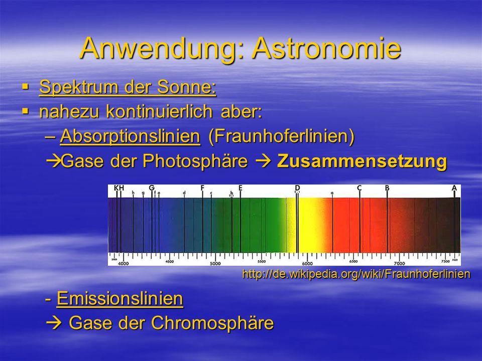 Anwendung: Astronomie