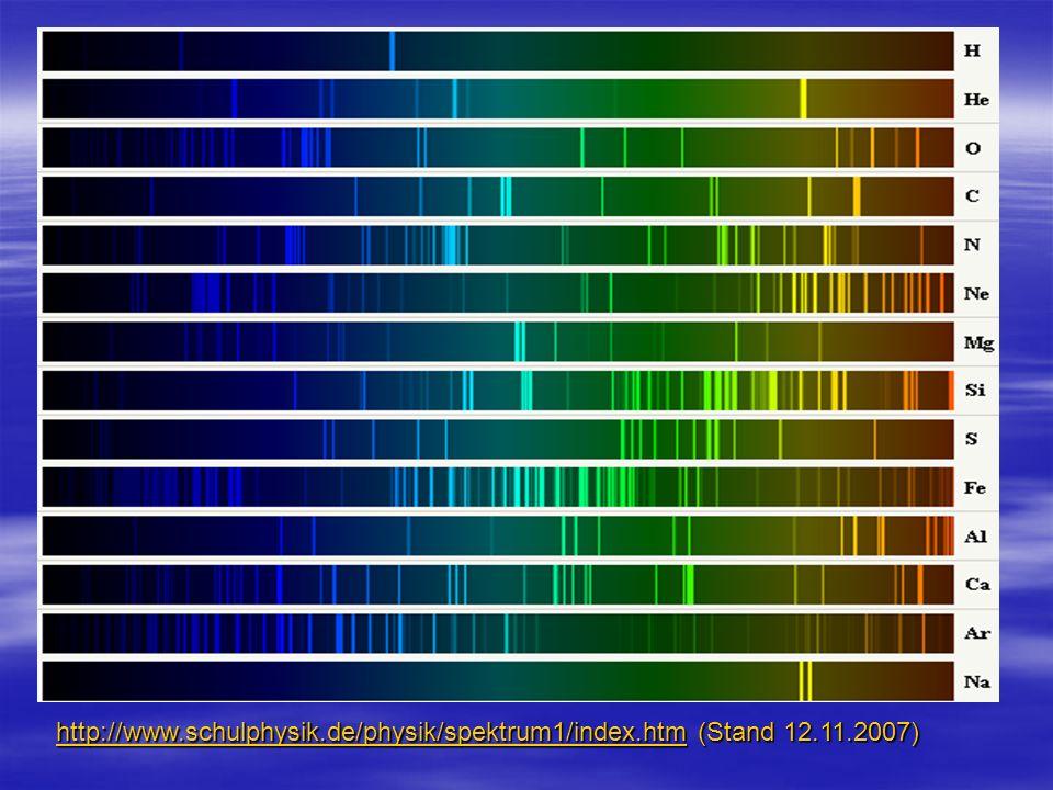 http://www. schulphysik. de/physik/spektrum1/index. htm (Stand 12. 11
