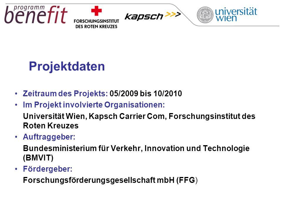 Projektdaten Zeitraum des Projekts: 05/2009 bis 10/2010