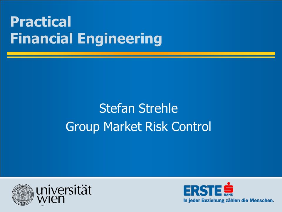 Practical Financial Engineering