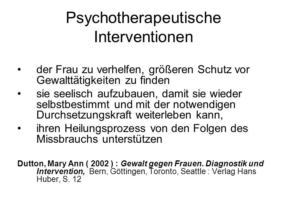 Psychotherapeutische Interventionen