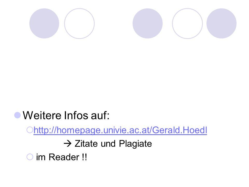Weitere Infos auf: http://homepage.univie.ac.at/Gerald.Hoedl