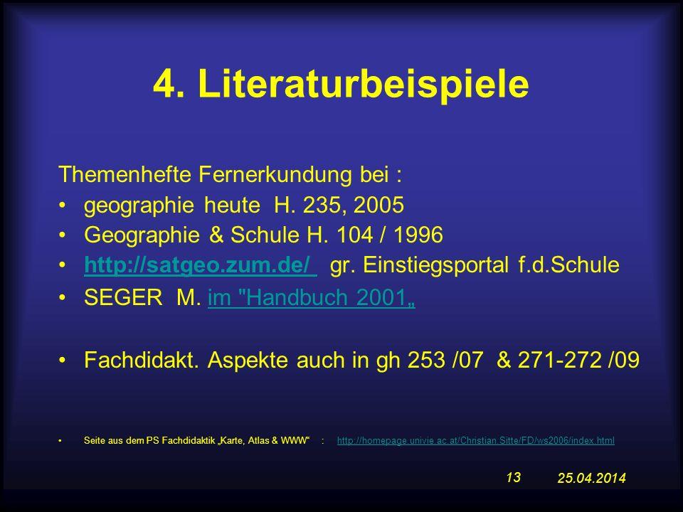 4. Literaturbeispiele Themenhefte Fernerkundung bei :