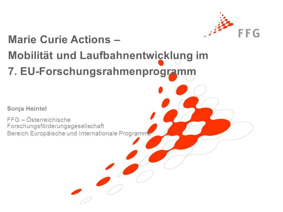 Mobilität und Laufbahnentwicklung im 7. EU-Forschungsrahmenprogramm