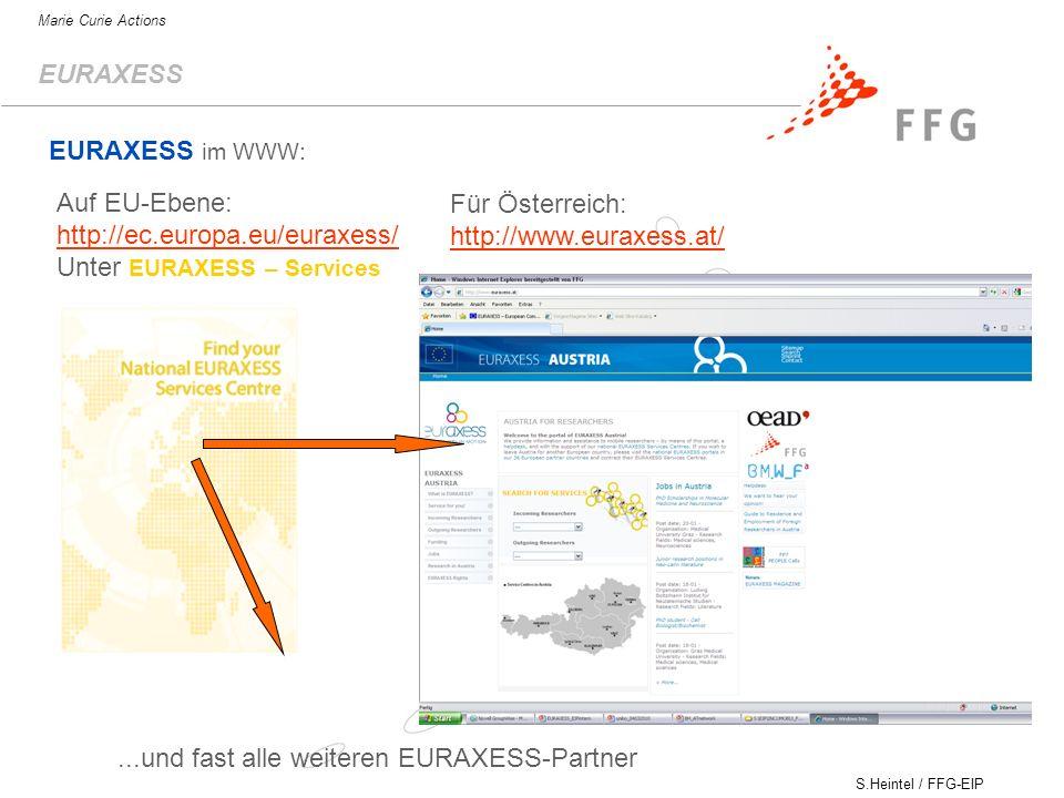 http://ec.europa.eu/euraxess/ Unter EURAXESS – Services