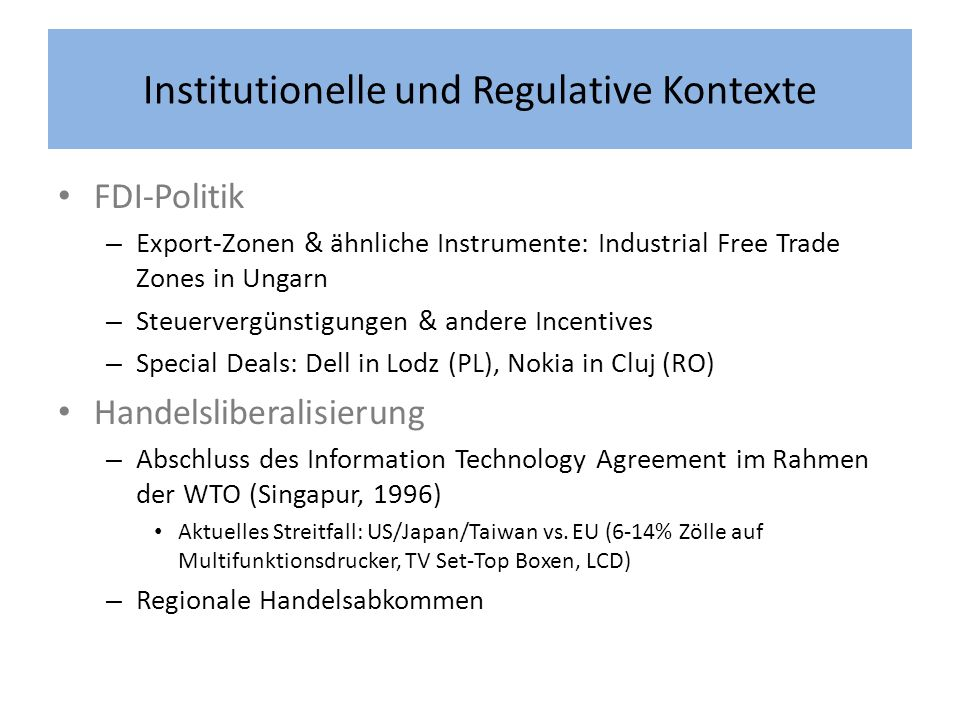 Institutionelle und Regulative Kontexte