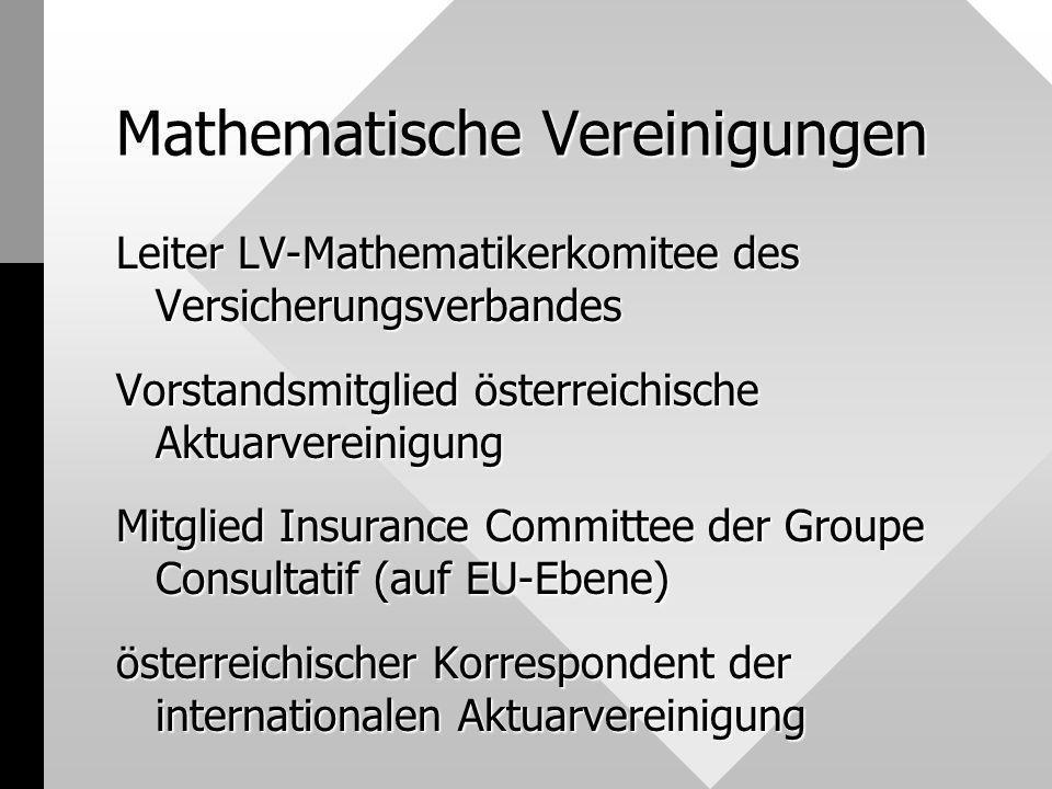Mathematische Vereinigungen