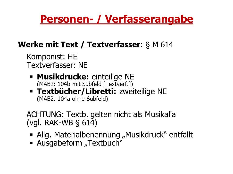Personen- / Verfasserangabe