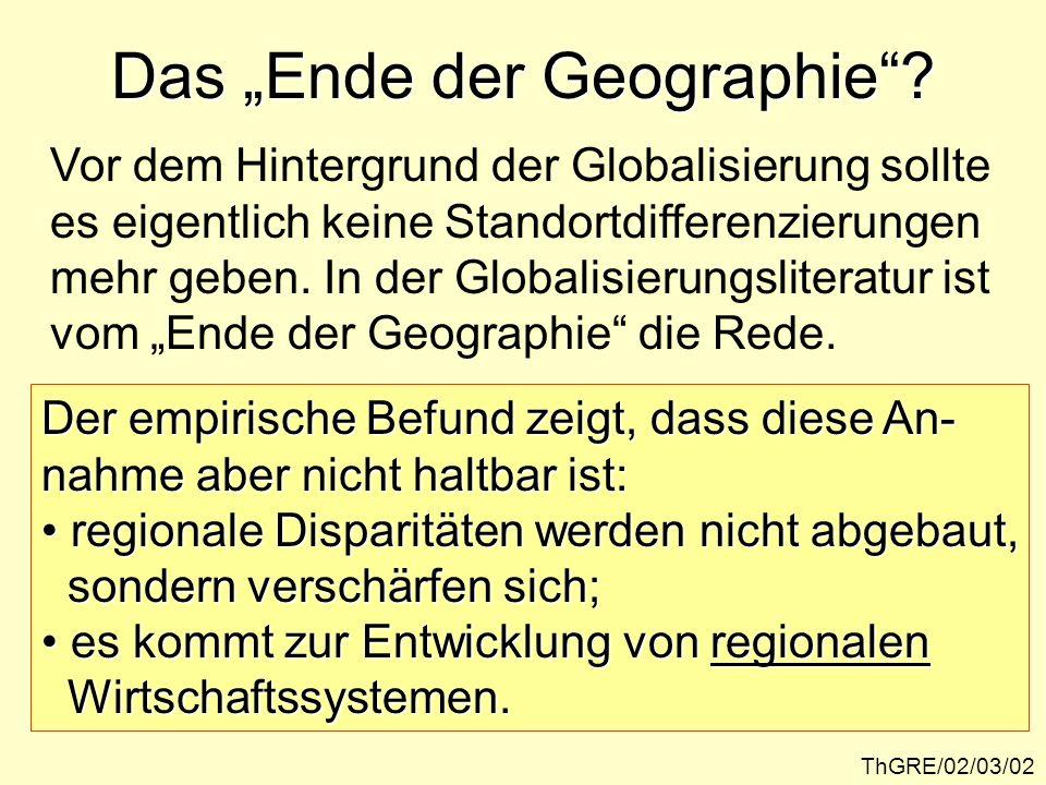 """Das """"Ende der Geographie"""